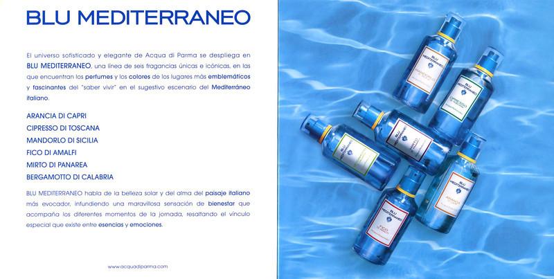 ACQUA DI PARMA Blu Mediterraneo  2011 Spain (format 20 x 20 cm) 2011 Spain spread