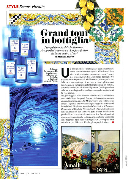 ACQUA DI PARMA Blu mediterraneo 2012 It pr VFair