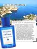 ACQUA DI PARMA Blu Mediterraneo 2016 Spain (advertorial Telva)  quarter page 'Soñar con el Mediterráneo'