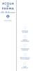 ACQUA DI PARMA Blu Mediterraneo (Arancia di Capri - Mirto di Panarea - Mandorlo di Sicilia - Bergamotto di Calabria - Fico di Amalfi) 2012 recto-verso tester card 3,5 x 14,5 cm