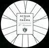 ACQUA DI PARMA Colonia Assoluta 10º Anniversario 2013 Italy (round tester card diameter 8,5 cm with silver inlay)