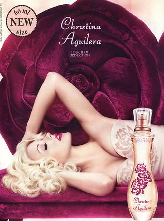 CHRSTINA AGUILERA Touch of Seduction  2015 Germany (handbag size format) 60 ml new size'<br /> MODEL: Christina Aguilera; PHOTO: John Russo