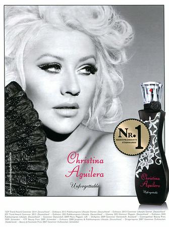 CHRISTINA AGUILERA Unforgettable 2014 Germany (handbag size format) 'Nr. 1 meistreprämierte Starmarke'