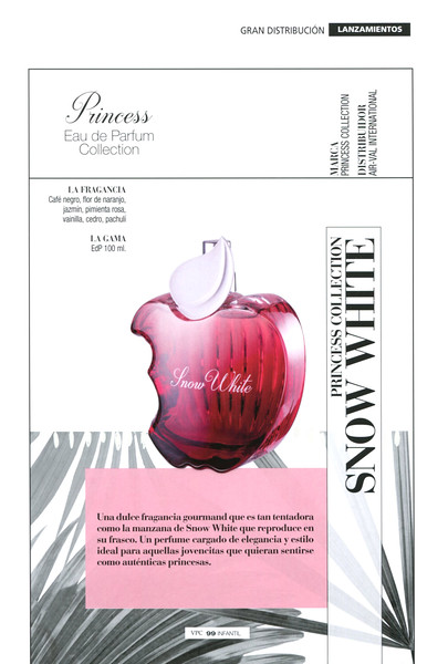 AIR-VAL Princess Collection (Snow White) 2017 Spain 'Una dulce fragancia gourmand'
