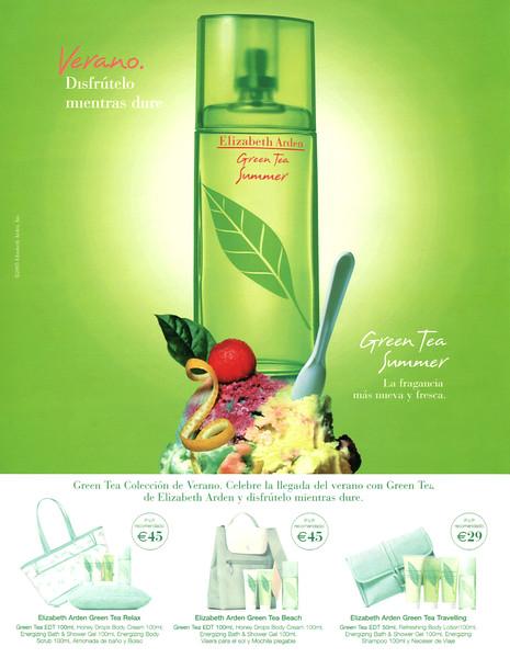 ELIZABETH ARDEN Green Tea Summer 2005 Spain 'Verano - Disfrútelo mientras dure - La fragancia más nueva y fresca'
