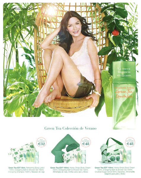 ELIZABETH ARDEN Green Tea Revitalize 2006 Spain 'La nueva fragancia vivifiante - Green Tea Colceeción de  Verano'