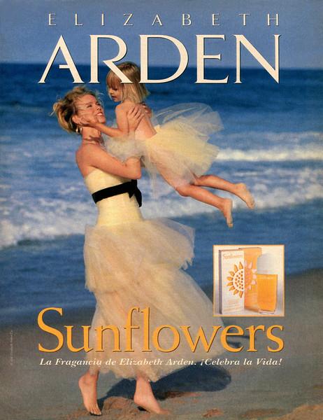 ELIZABETH ARDEN Sunflowers 1995 Spain 'La Fragancia de Elizabeth Arden - ¡Celebra la Vida!