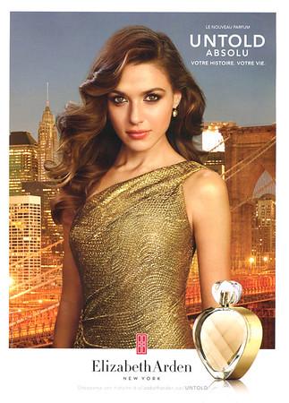 ELIZABETH ARDEN Untold Absolu 2014 Canada 'Le nouveau parfum - Vitre histoire, votre vie'