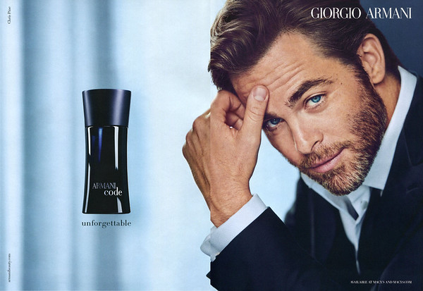 ARMANI Code for Men 2015 US spread 'Unforgettable - Available at Macy's and macy. com'