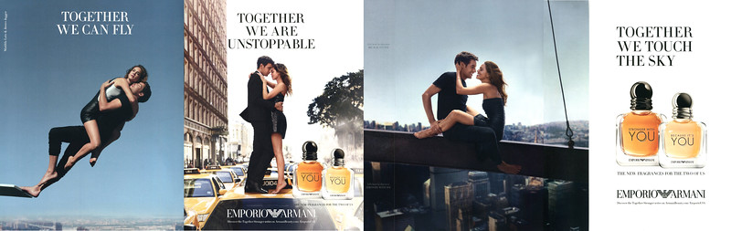 Emporio ARMANI Stronger with You - Because It's You 2017 US (4 pages 22,5 x 27,5 cm with double scent strip) 'Together we can fly - Together we are unstoppable - Together we can touch the sky'