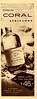 ATKINSONS Coral 1957 Argentina half page 'Colonia - Medio litro de fina colonia $46 - En dos fragancias: Bouquet de Flores - Extra Fresca'