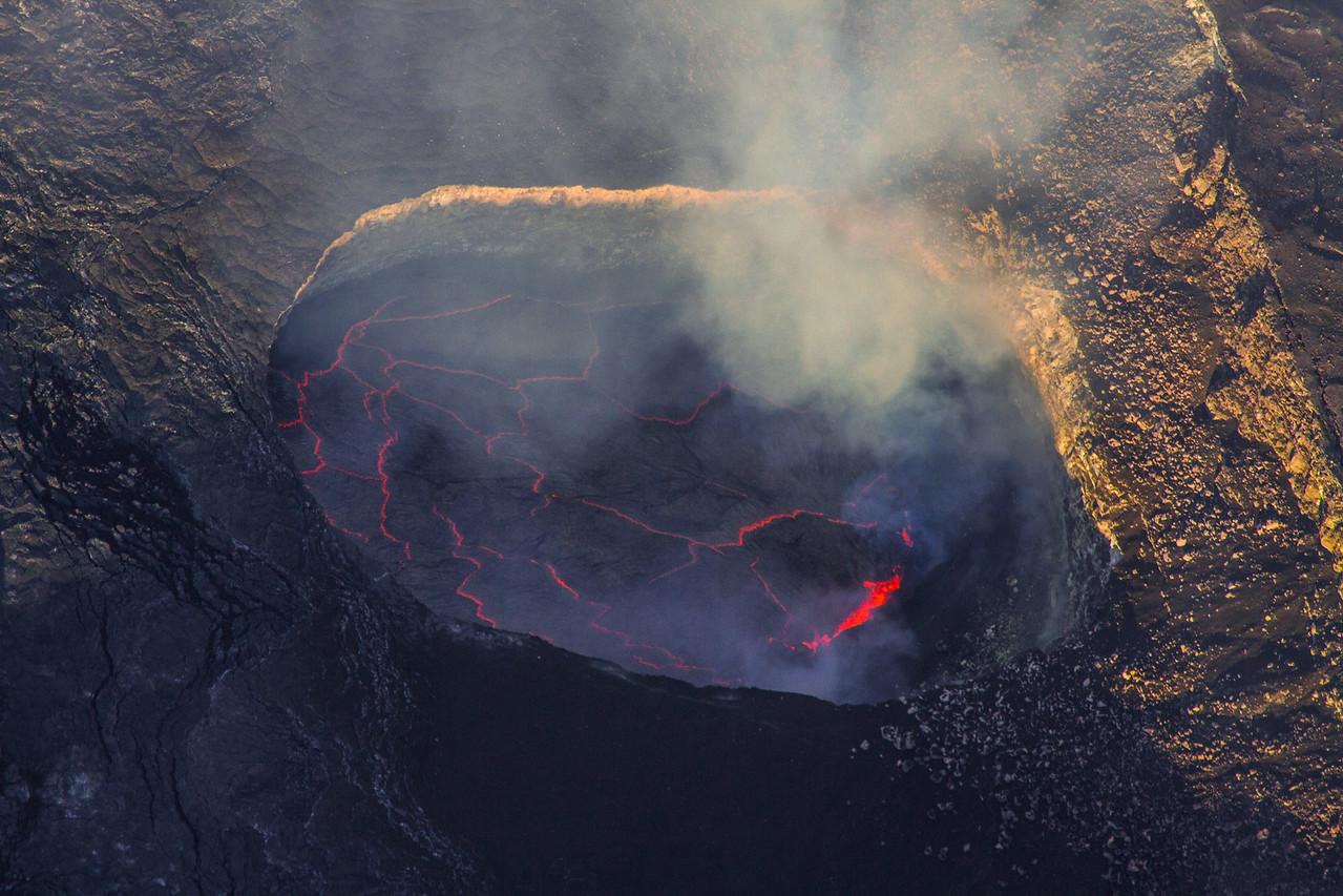 Kilauea Crater Big Isalnd Hawaii central crater