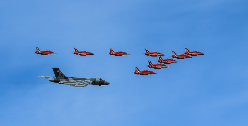 Red Arrows and Vulcan Flypast - RIAT 2015 (July 2015)