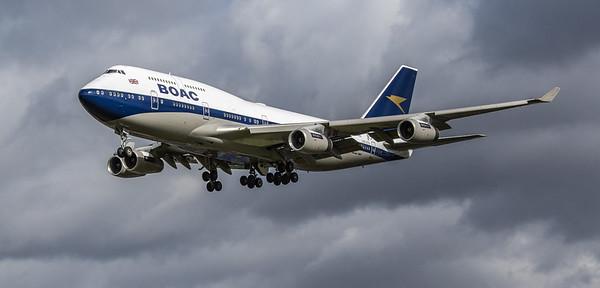British Airways (BOAC Retro Livery) - Boeing 747-436 (G-BYGC) - Heathrow Airport (March 2019)