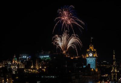 Edinburgh Tattoo Fireworks - Edinburgh Castle - From Calton Hill (August 2019)