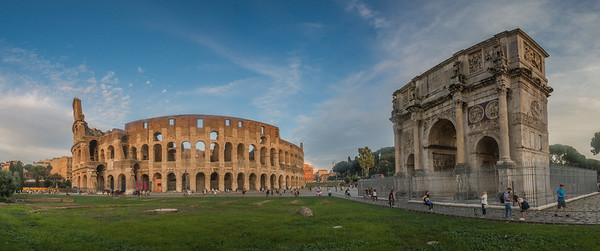 Colosseum & Arch of Constantine - Rome - Italy (September 2018)