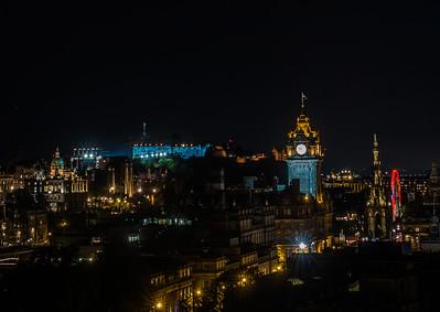 Edinburgh Tattoo - Edinburgh Castle - From Calton Hill (August 2019)