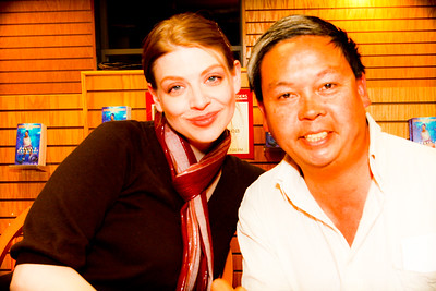 Amber Benson and Frank Chu