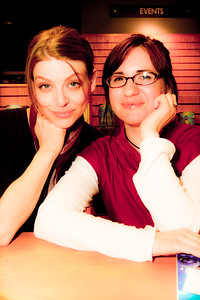 Amber Benson and Heather Wilson Strike a pose