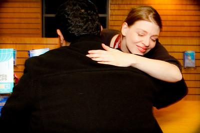 Amber Benson Giving Happy Fan a Genuine Hug