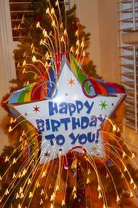 Happy Birthday To you FIREWORKS Xmas Tree