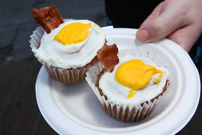 Bacon Maple Egg Cupcake