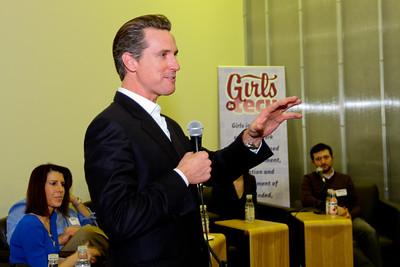 Lieutenant Governor Gavin Newsom at GIRLS IN TECH