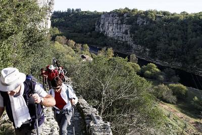 Balazuc, montée au-dessus de Viel Audon