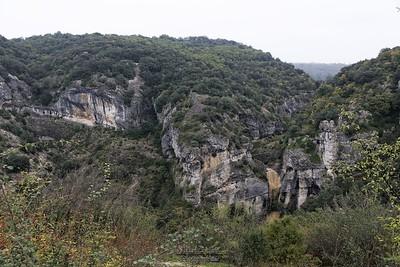 Rochecolombe, vue sur la cascade