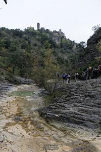 Rochecolombe, sous la cascade