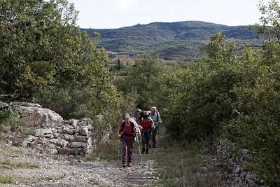 Balazuc, montée sur le plateau en allent à Faussimagne