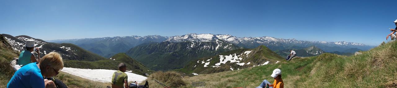 Pic des 3 Seigneurs - Panorama vers le sud
