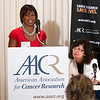 Cancer survivor Melanie Nix speaks during the launch of the American Association for Cancer Research (AACR) progress report 2012 held at the National Press Club in Washington, DC on Sept. 12, 2012. (Photo by Alan Lessig for AACR)