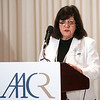 Dr. Margaret Foti, CEO of AACR, speaks during the launch of the American Association for Cancer Research (AACR) progress report 2012 held at the National Press Club in Washington, DC on Sept. 12, 2012. (Photo by Alan Lessig for AACR)