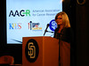 Pamela Williams of the SU2C Council of Founders and Advisors (CFA) welcomes guests to the screening. © All rights reserved by KPBS Outreach.