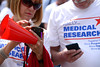 Speakers and attendees, at the Rally for Medical Research