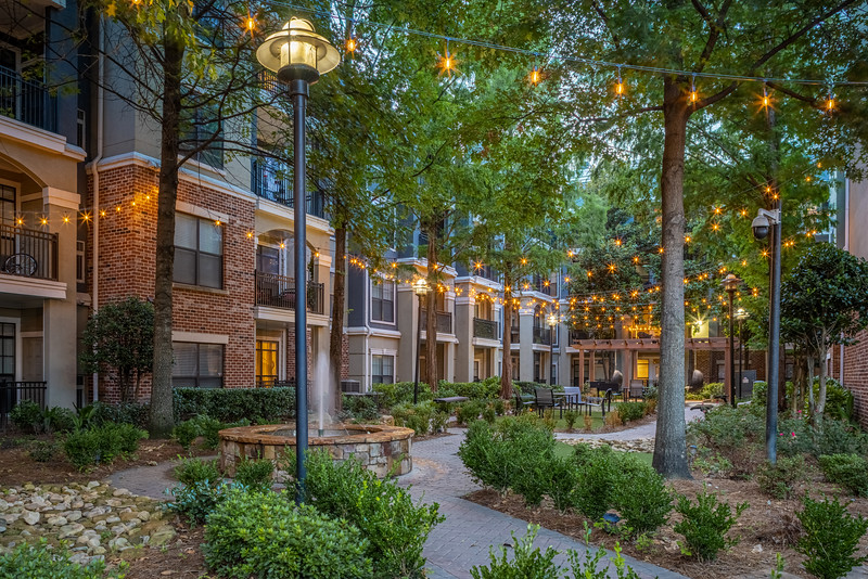 Marquis Midtown District Courtyard One Twilight