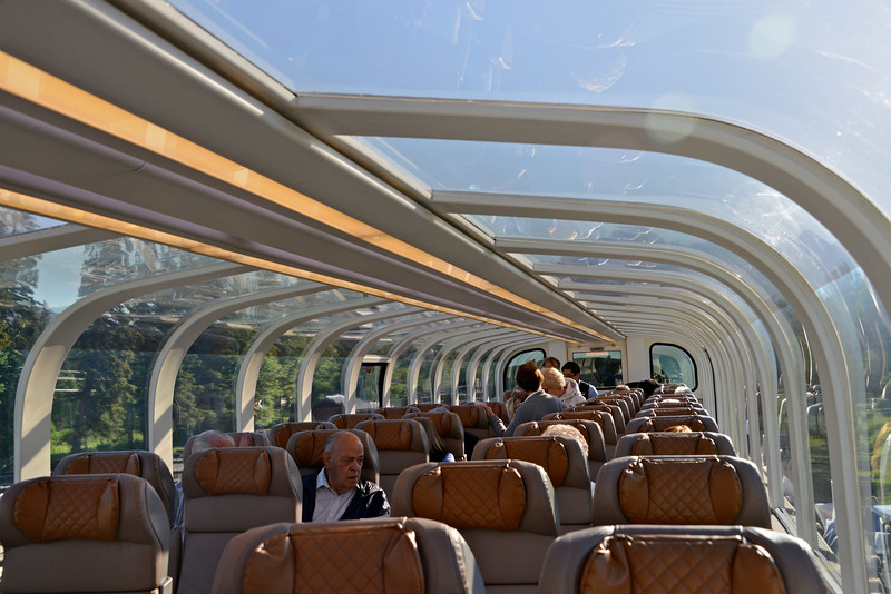 Our domed roof train car.  Dinning area below.