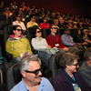Who says astronomers aren't cool? They sure looked cool watching Space Junk 3D, a new IMAX film that explores the increasingly serious problem of orbital debris. AAS photo © 2012 Joson Images.