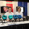 Six dozen exhibitors and sponsors set up booths in the exhibit hall at the 223rd AAS meeting, including Tim Puckett and Ingrid Siegert of Apogee Imaging Systems. AAS photo © 2014 Joson Images.