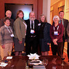 No power vacuum here! Attending the AAS Past-Presidents Reception were Vice President Ed Churchwell, Past-Presidents Caty Pilachowski and Craig Wheeler, President-Elect Meg Urry, President David Helfand, Past-President Debbie Elmegreen, Vice President Paula Szkody, and Past-Presidents Bob Williams and Bob Kirshner. AAS photo © 2014 Joson Images.
