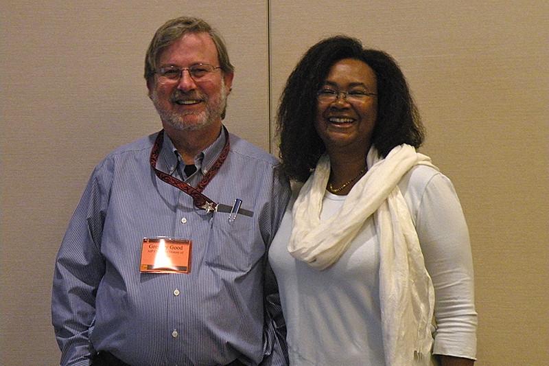HAD VII speakers: Gregory Good, Jarita Holbrook. Photo by Joe Tenn.