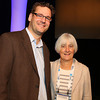 """Armin Rest (Space Telescope Science Institute) gave his invited talk, """"An Astronomical Time Machine: Light Echoes from Historic Supernovae and Stellar Eruptions,"""" on Thursday morning. He was introduced by AAS Vice President Paula Szkody (University of Washington). AAS photo © 2014 Joson Images."""