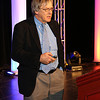 "In a new arrangement between the AAS and the UK Royal Astronomical Society, the winner of the RAS Gold Medal will speak at an AAS meeting, and the winner of the AAS Henry Norris Russell Lectureship will speak at an RAS meeting. Roger Blandford (Stanford University) gave his RAS Gold Medal Lecture, ""Some Puzzles in High-Energy Astrophysics,"" in DC during a special Wednesday-evening plenary session. AAS photo © 2014 Joson Images."