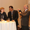 The AAS donors reception followed Neil DeGrasse Tyson's plenary presentation on Monday evening. Tyson (center) joined AAS President-Elect Meg Urry and Executive Officer Kevin Marvel in thanking those who have made generous contributions to the Society's prize, grant, and general funds. AAS photo © 2014 Joson Images.