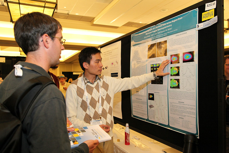 Among the many attendees who gave poster presentations in Boston were about 70 students who competed for Chambliss Astronomy Achievement Student Awards. AAS photo © 2014 Joson Images.