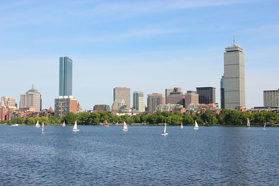 Boston put on its best face for the 224th AAS meeting, and the weather cooperated too. This view shows the Charles River and Back Bay, with the John Hancock tower at left and the Prudential tower at right. Photo by Rick Fienberg © 2014 AAS.