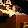 """Wednesday's program was kicked off by invited lecturer Rosanne DiStefano (Harvard-Smithsonian Center for Astrophysics), whose talk was entitled """"New Opportunities in Gravitational Microlensing and Mesolensing."""" AAS photo © 2014 Joson Images."""