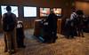 Speakers prepare to speak - speaker ready room