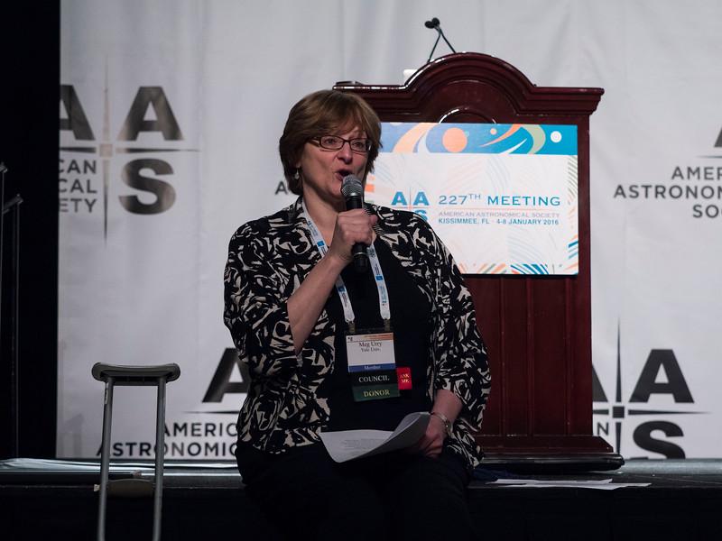 AAS Preisdent C. Megan Urry and awardees - AAS Prize Presentations: Buchalter Cosmology, Weber, Education